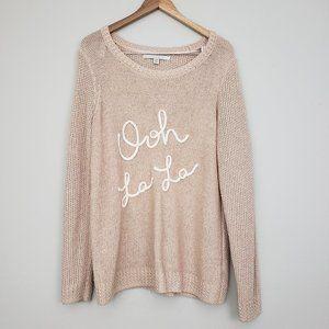 Lauren Conrad Pink Long Sleeve Knit Blouse Size MM